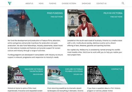 Film Victoria website homepage image