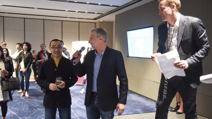 Todd Fellman - Australian Producer Story Bridge Films and and Mr. Liu Yiwei - Director & Writer for Australia China Co-production At Last