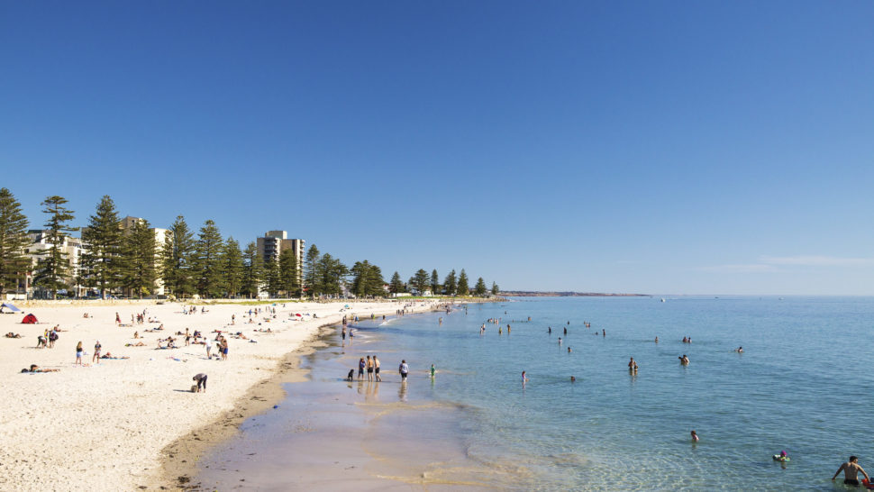 Glenelg Beach, just 15 minutes from Adelaide CBD